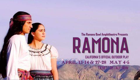 Advertisement for the 2021 Ramona Pageant in Hemet, California